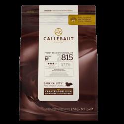 Mørk Chokolade Callebaut 57,7% 2,5 kg.