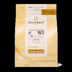 Hvid Chokolade Callebaut 28% 2,5 kg.
