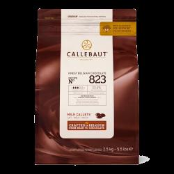 Mælke Chokolade Callebaut 33,6% 2,5 kg.