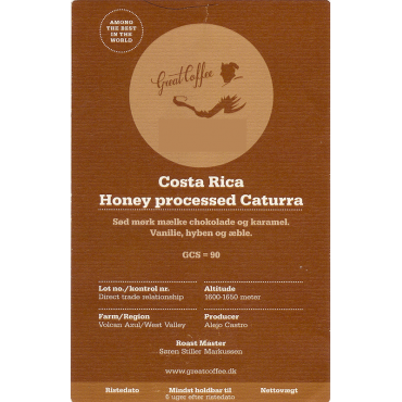 Costa Rica Honey processed Caturra