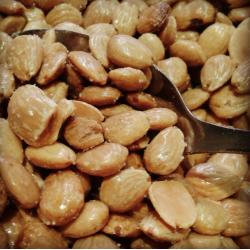 Saltristede smuttede spanske valencia mandler