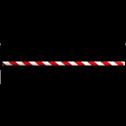 Sugerør Rødstribet - Bionedbrydelig